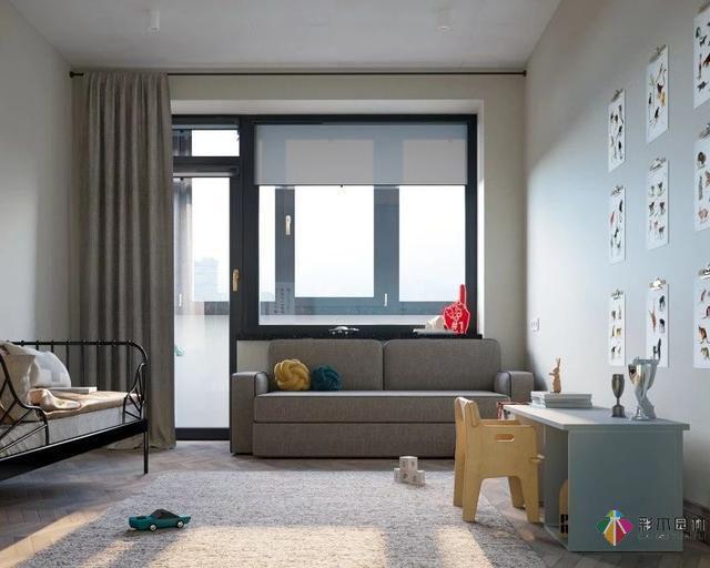 92.6平米的现代贝博app手机版二居室,贝博app手机版设计真的很美